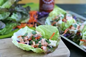 Weeknight Fish Tacos with Spicy Tahini Sauce from www.EverydayMaven.com