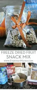 Freeze Dried Fruit Snack Mix from www.EverydayMaven.com