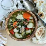 Instant Pot Butter Bean Soup Recipe from www.EverydayMaven.com