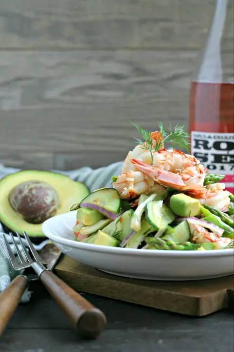 Poached Shrimp Salad with Avocado from www.EverydayMaven.com