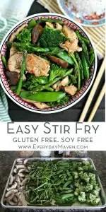 Easy Chicken Stir Fry Pinterest Collage