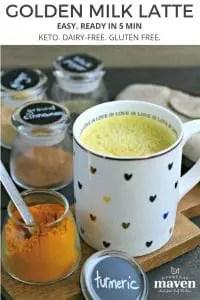 ingredients to make dairy-free turmeric milk latte