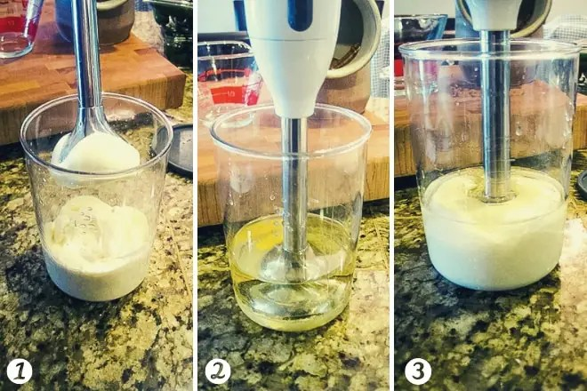 step by step photos of how to make mayonnaise