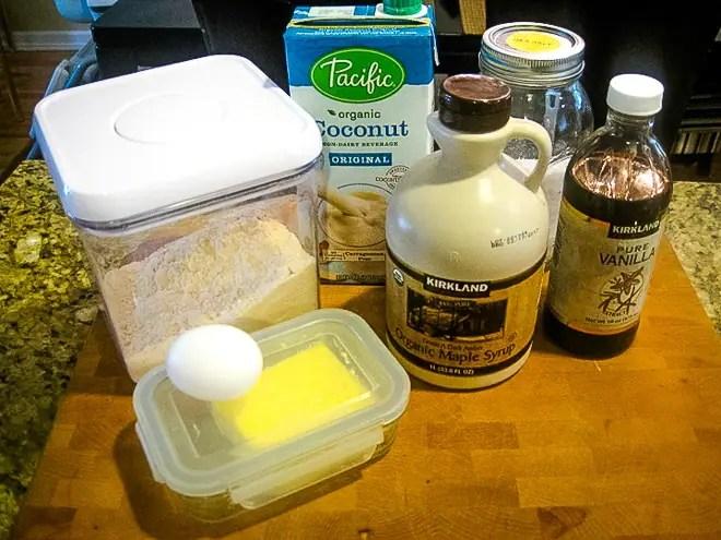 ingredients to make vanilla mug cake