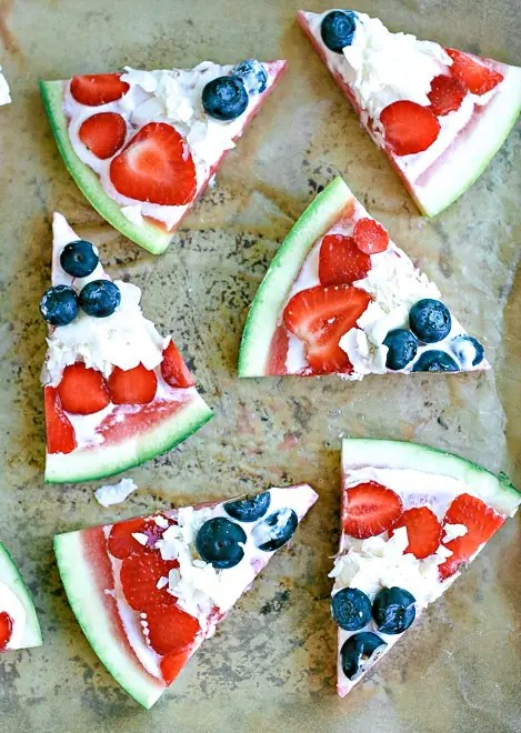 slices of watermelon pizza