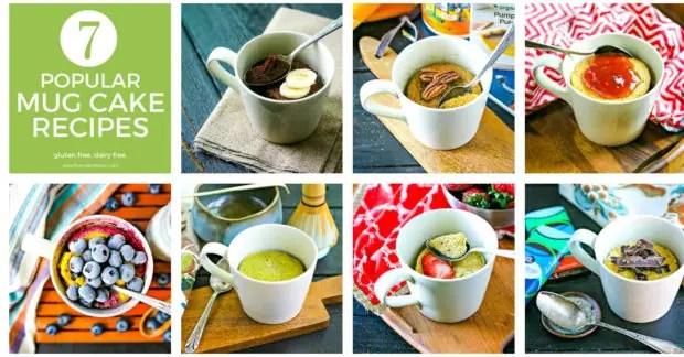 collage of 7 mug cake recipes