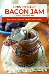 jar of bacon jam with a small spatula