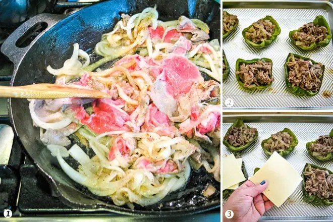 how to make philly cheesesteak stuffed peppers step by step photos