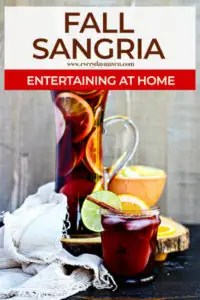 red sangria with sliced fruit