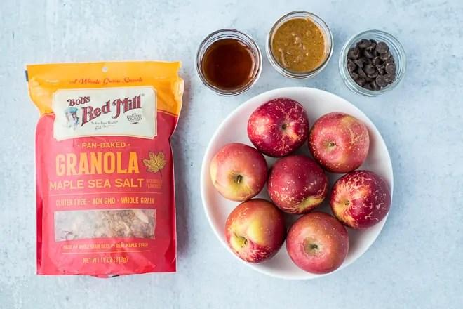 ingredients to make apple nachos