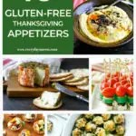 collage of gluten free appetizer recipes