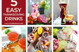 collage of thanksgiving drink ideas