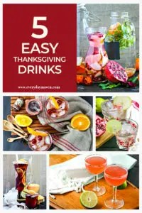 collage of colorful thanksgiving drink ideas