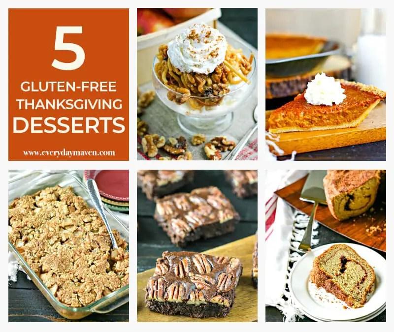 collage of gluten free thanksgiving dessert ideas