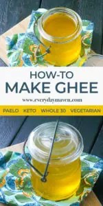 collage for pinterest of ghee images