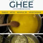 step by step images of how to make ghee