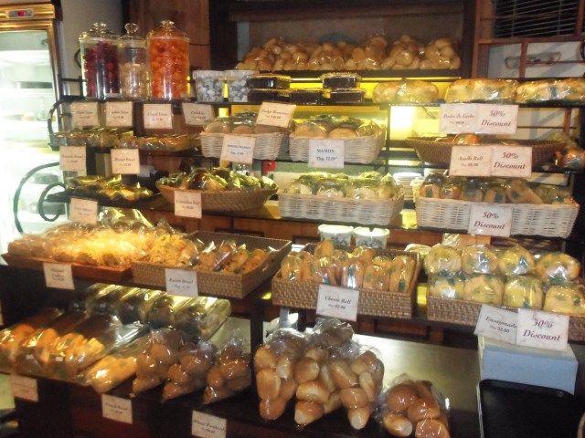 An assortment of yummy breads await those with sweet tooth at Sweet Inspirations, a restaurant/bakery along Katipunan Avenue in Quezon City, Philippines