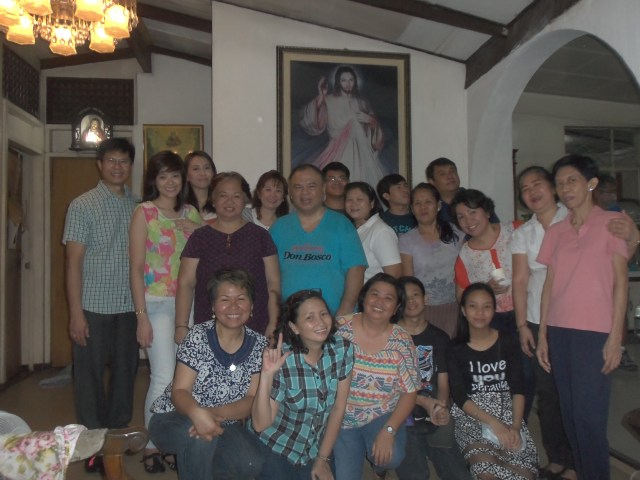 "Posing with my family and co-legionaries of Mary in Jan. 2015 in the Philippines. ""Those were the days my friend..."" and now we have literally grown sideways or otherwise and have kids."