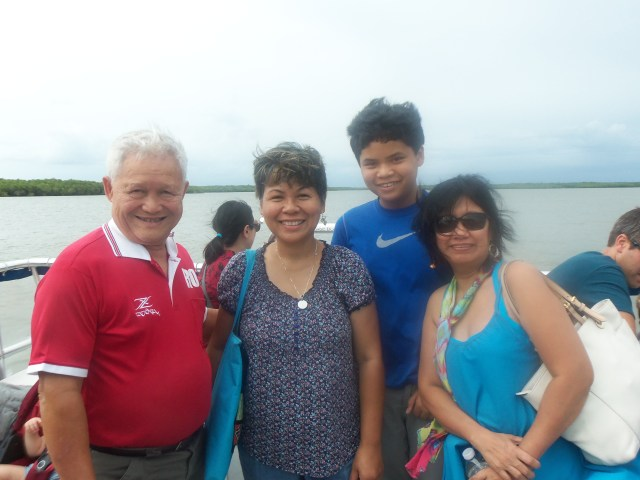 With family, enjoying the peaceful view of the Everglades in Florida