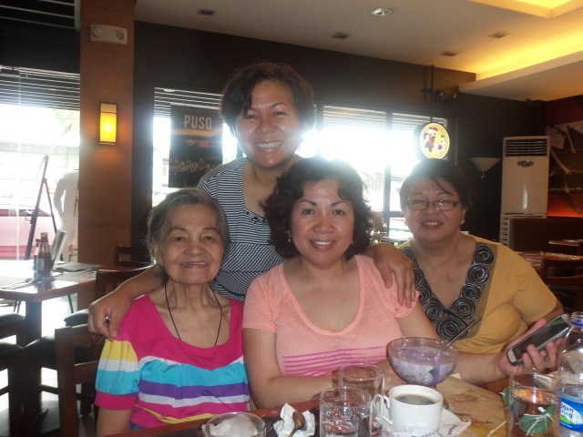 Us, sisters with Nanay. Missing in this picture is our other sister Baby.