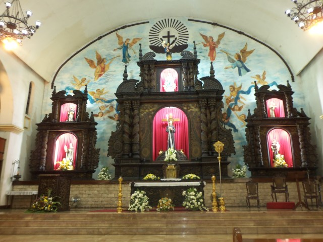 The altar of Santuario de San Pedro Bautista in San Francisco del Monte, Quezon City where the funeral mass in honor of Nanay was held.