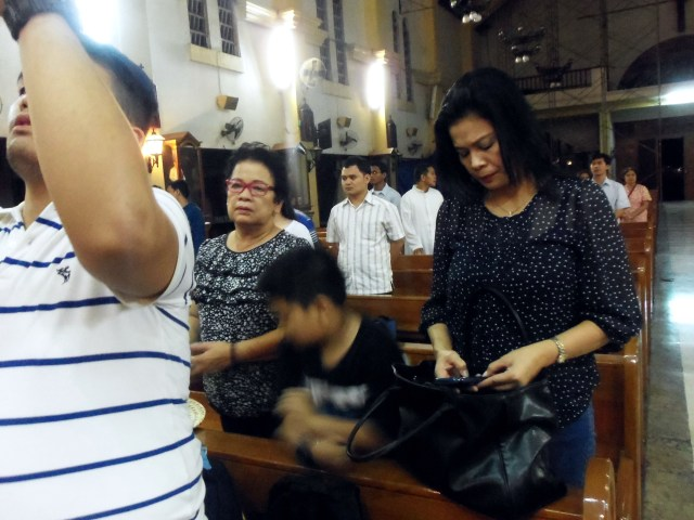 Relatives, both near and far, attend her funeral mass.
