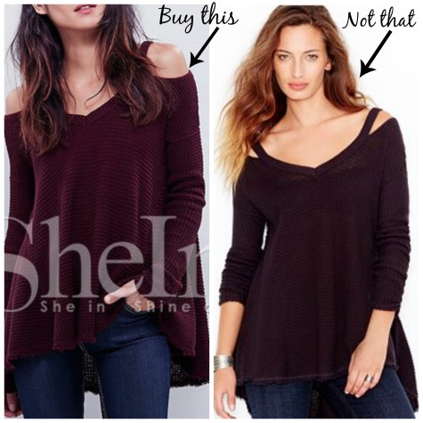 cold shoulder buy this not that