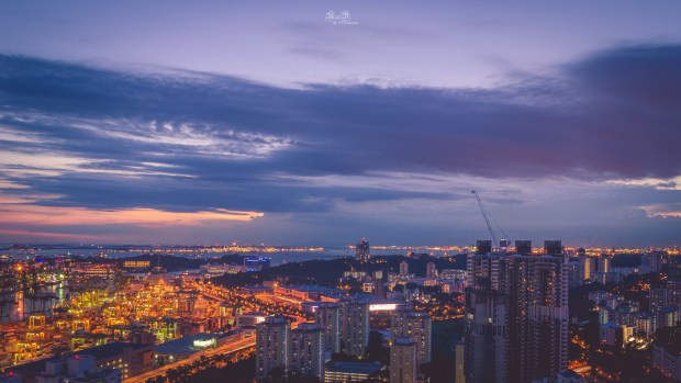 Sunset at Pinnacle Duxton by Randy Tan Travelogue CC BY-NC-ND 2.0