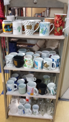 Mugs on a Shelf