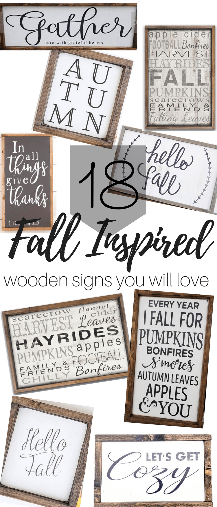 Fall Inspired Wooden Signs