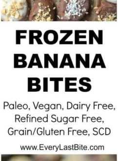 Frozen Banana Bites Dipped in Vanilla & Chocolate