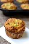 Zucchini, Cheddar & Pancetta Muffins