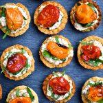 Roasted Tomato & Walnut Cream Tarts
