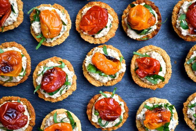 Roasted Tomato & Walnut Cream Tarts