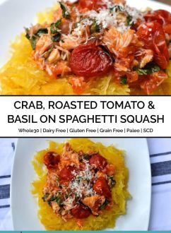 Crab & Tomato on Spaghetti Squash