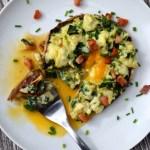 The Best Scrambled Eggs in Portobello Mushrooms