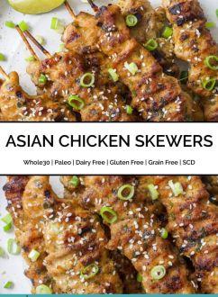 Asian Chicken Skewers