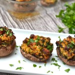 Turkey & Spinach Stuffed Mushrooms
