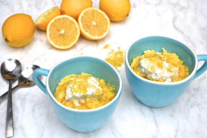 4-Minute Lemon Mug Cake