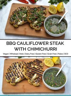 BBQ Cauliflower Steak with Chimichurri