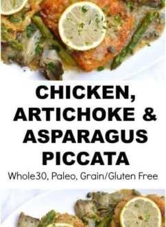 Chicken, Asparagus & Artichoke Piccata