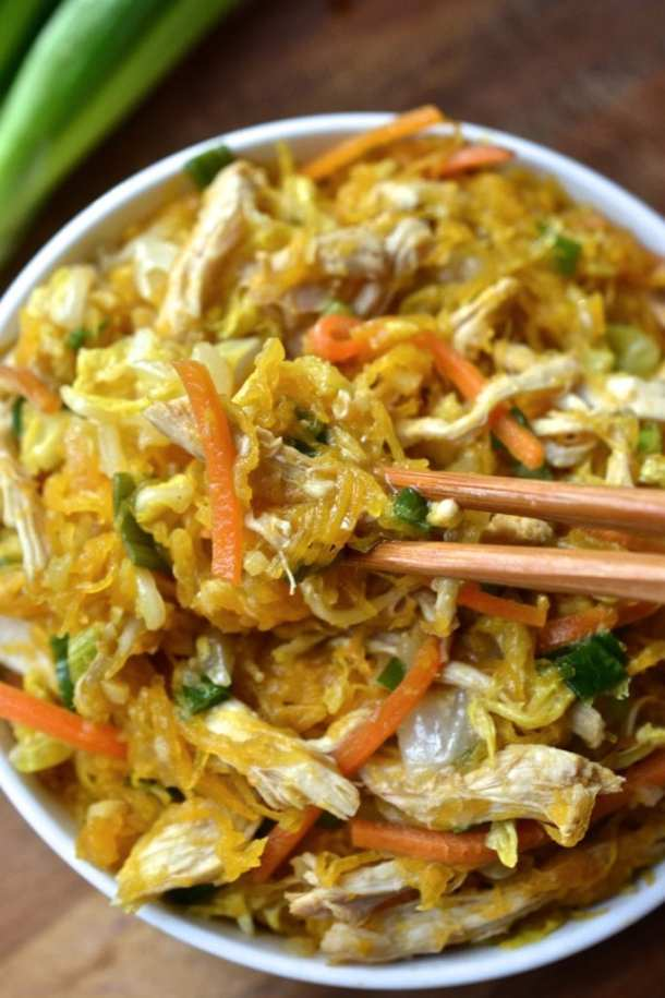 Image result for spaghetti squash chow mein image