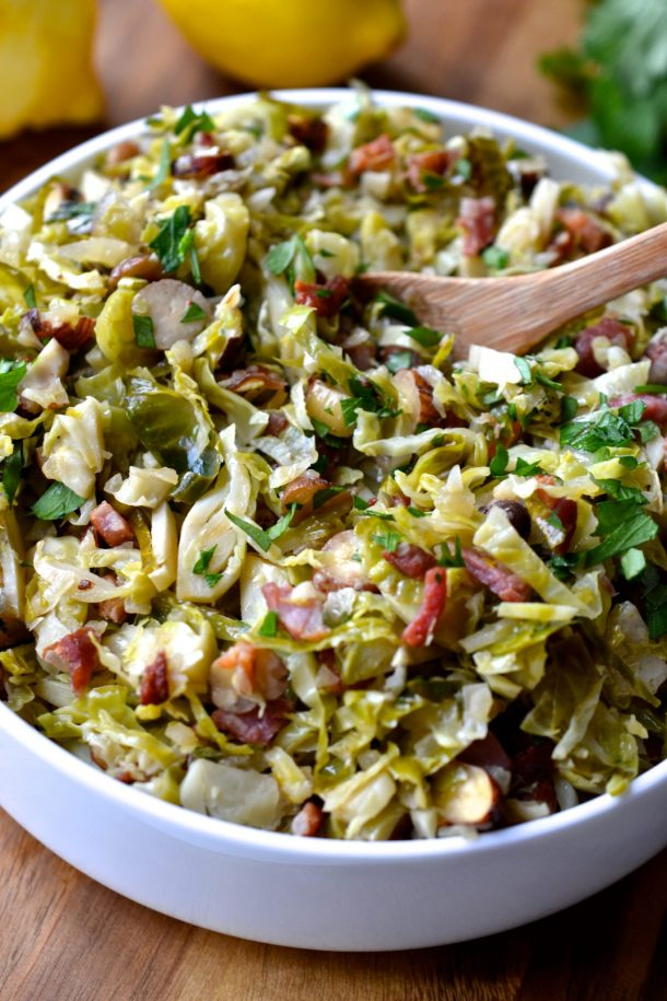 Shaved Brussel Sprouts With Bacon Hazelnuts Amp Lemon
