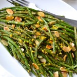 Lemon Roasted Green Beans with Almonds & Shallots