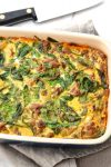Caramelized Onion, Butternut Squash & Turkey Breakfast Casserole