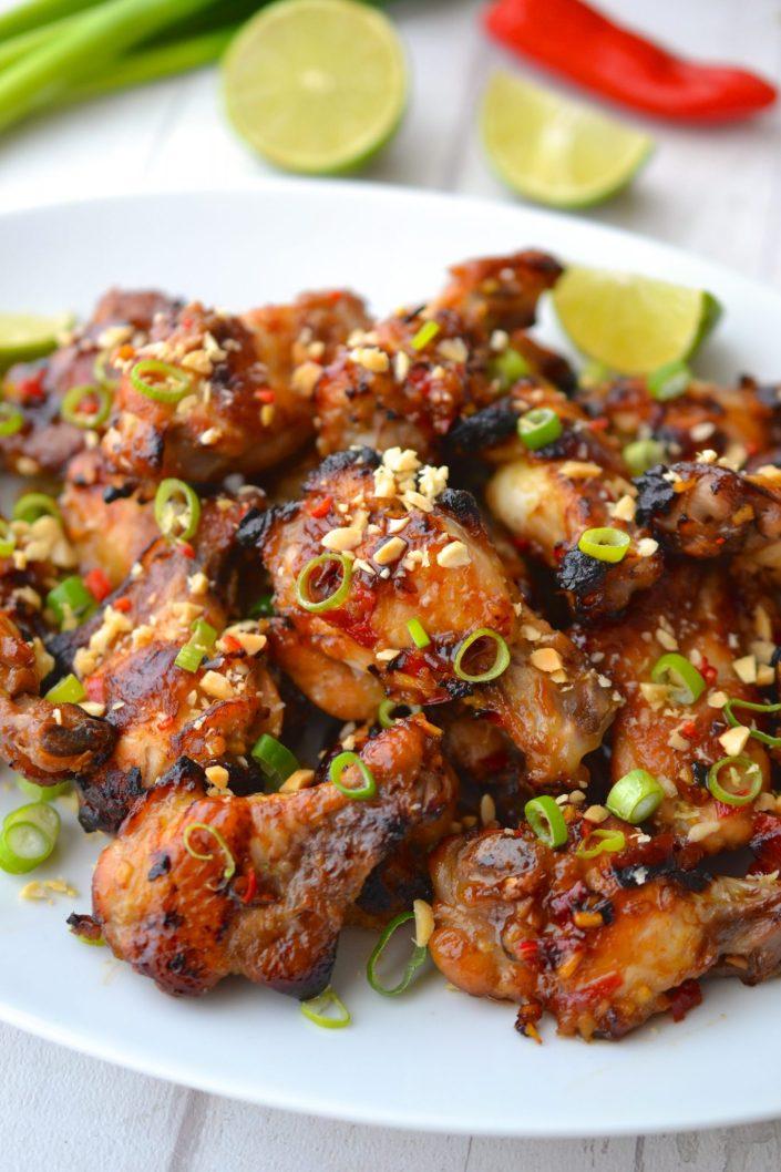 Sticky Honey & Ginger Chicken Wings