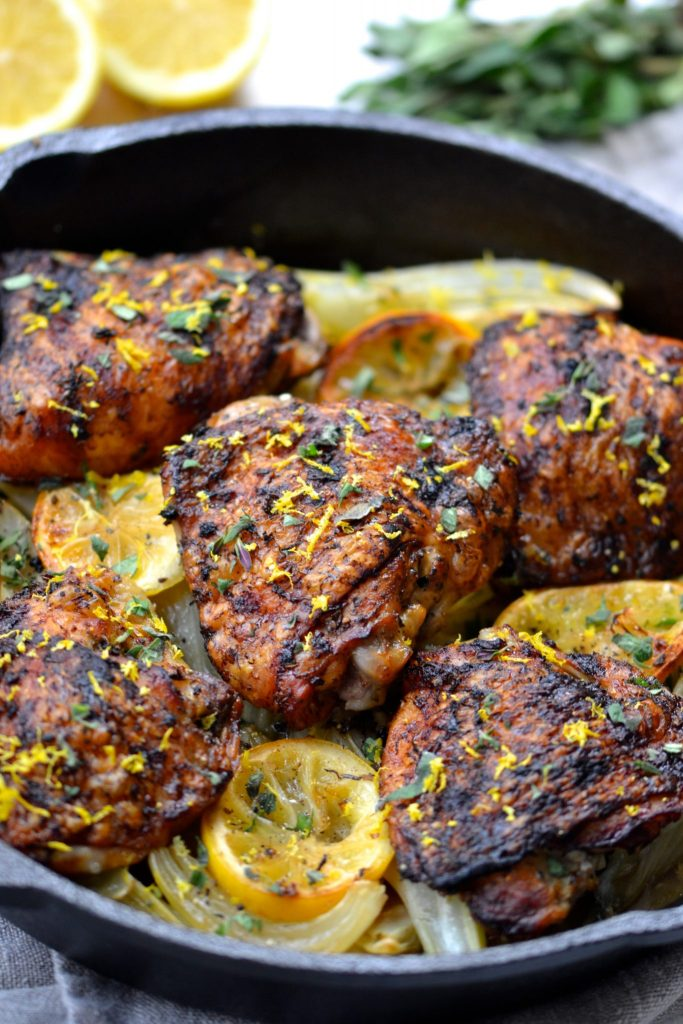 Crispy Lemon & Herb Chicken with Fennel