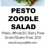 Pesto Salad with Zoodles, Pine Nuts & Prosciutto