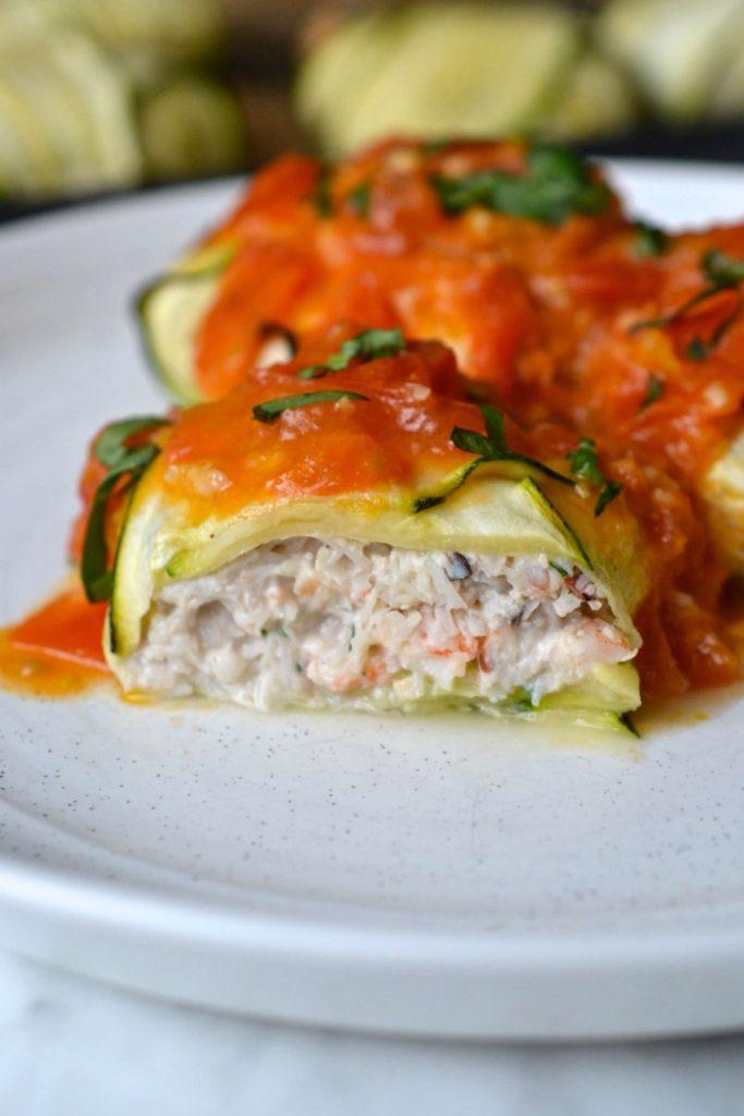 Crab & Shrimp Ravioli with Lemon Tomato Sauce