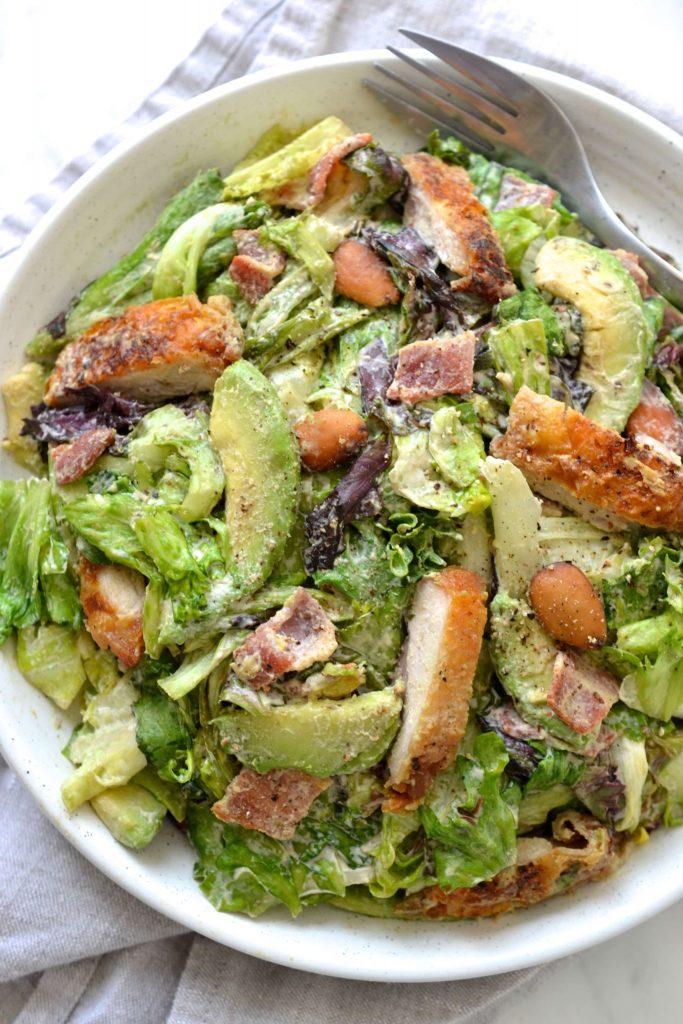 Caesar Salad with Tahini Dressing